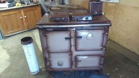 Two oven Rayburn multi-fuel stove