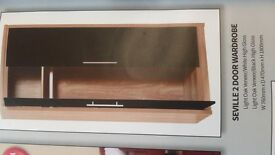 brand new boxed seville wardrobe and bedside unit