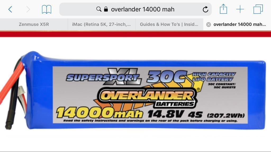 4 x Overlander 14000 mAh 6S Brand New