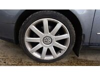 """4x audi vw rs4 style 18"""" alloy wheels and tyres"""