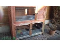 LARGE 2 STOREY OUTDOOR RABBIT HUTCH