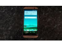 HTC ONE M8 Gold . Unlocked for any network. AS NEW.