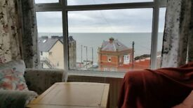 Second Floor flat near Cliff Railway, with outstanding sea views.