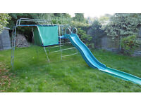 climbing frame - TP challenger with slide and tent