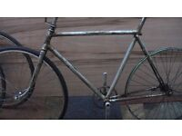 BSA VINTAGE BIKE FRAME + parts RETRO FIXIE project LOADS OF CHARATER 1950s