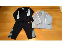 Adidas boys track suit 9-12m and jacket 12-18 m