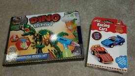 Brand new dinosaur set and car set