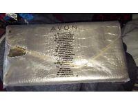 Avon Gold cosmetics bag