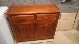 Dunelm Winchester Acacia Sideboard in dark stain- in very good condition. H85 X W100 X D35cm.