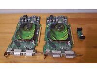 2 x Nvidia Geforce 7900GS Graphics Cards, SLI Matched Pair. Will Sell Separately, Fully Working