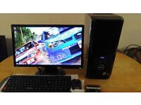 """FAST SSD Dell XPS MINECRAFT Quad Core Gaming Desktop Computer PC With Samsung 24"""""""