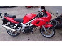Red Suzuki SV 650 For sale.