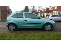 VAUXHALL CORSA 2003 DIESEL,6 month MOT,excellent condition inside and outside, £499