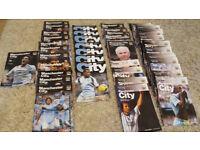 Joblot Manchester City home programmes 2007-2009