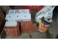 Quarry tiles for fire hearth etc 56 x150mm 5 edge 1 corner adhesive grout etc