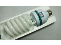 Set of two 135W / 5500k photography light bulbs