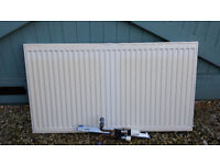 Convector radiator with fittings