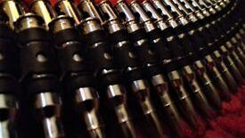"""Mens Bullet Belt - Waist 30"""" Metal"""