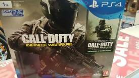 Playstation 4 slim 1tb hdd call of duty infinite warfare and remastered