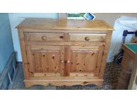 4FT x 3FT Solid Pine Sideboard, ideal for dining room, kitchen, restoration etc