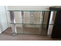 Clear Glass TV Stand - Excellent Condition