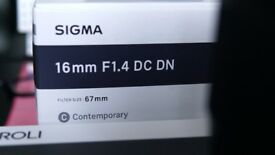 Sigma 16mm 1.4 Sony E Mount