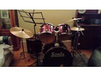 Sonix Acoustic Drum Kit with extras