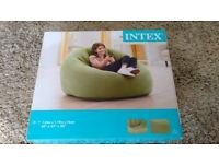 INTEX Inflatable Beanless Bag Club Chair #68576 like new!