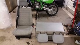 vw t4 van seats for sale .Double seat folds flat like a table