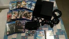 PS4 bundle, including PS Vita