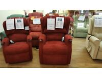 Grande Sized HSL Linton Dual Motor Riser Recliner Chair, Free Delivery