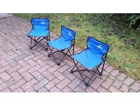 Camping chairs - 3 small (for under 10s) and 1 adult
