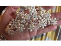 Wedding hair slide/bridal hair accessory