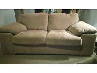 2.5 seater sofa, beige in colour. size 180cm *85cm. £75