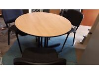1 metre boardrooms meeting table with optional chairs