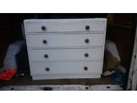 Painted oak chest of drawers 1950s