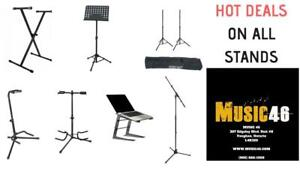 KEYBOARD STANDS - GUITAR STANDS - MUSIC STANDS - LIGHT STANDS - MICROPHONE STANDS - SPEAKER STANDS - DJ LAPTOP STANDS