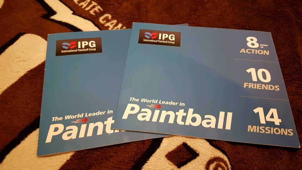 20 Paintball tickets worth £30 a head