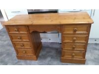 Large solid pine good quality desk or dressing table