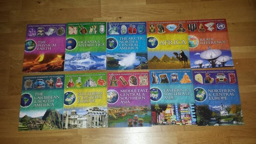Kingfisher Geography Encyclopedia - 10 Books - As New