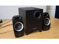 Creative Speakers and Subwoofer surround sound for PC or home.