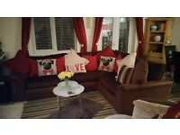 SCS Brown Corner Sofa 3.5 years old immaculate condition