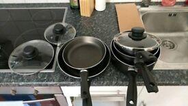 Aluminum pan and pot 5 piece set brand new