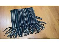 BRAND NEW WITH TAGS MENS BLUE STRIPED SCARF