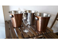 Set of 3 wine coolers