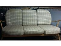 Ercol Retro Vintage Suite,Sofa And Two Armchairs,Long Distance Delivery Possible