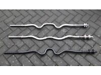 EZ BAR OR TRI CURL WEIGHTS BARBELL