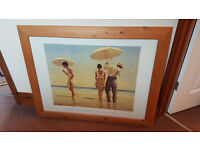 wooden framed picture Jack Vettriano..Portland Gallery