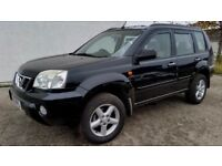 2003 NISSAN X-TRAIL 2.2 DCI 4X4 BLACK - HEATED LEATHER - SUNROOF - PART EXCHANGE WELCOME