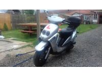 Sym Jungle 50cc Scooter Silver / Blue Mot 08/2017 Good runner & Reliable
